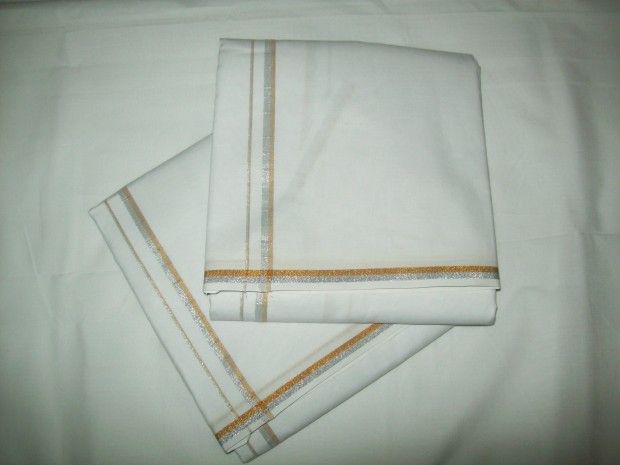 gold silver dhoti for mens
